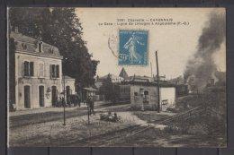 16 - Chabanais - La Gare - Ligne Limoges à Angoulême  - Animée - Train - Andere Gemeenten