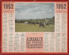 ALMANACH Des Postes,Télégraphes Et Téléphones 1952 : YONNE - Calendriers