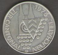 SVIZZERA 125 ANNIVERSAIRE DE LA REPUBLIQUE TIR CANTONAL NEUCHATATEL 1973 AG SILVER - Gettoni E Medaglie