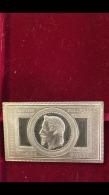 Jeton Médaille Timbre Poste Napoleon III 1869 En Argent Massif Tête Laurèe 5 Fr Sans 5fr Superbe Pièce à Posséder !!!! - Other