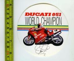 Ducati 851 Adesivo Concessionario Originale Nuovo Anni '80 - Genuine Factory Sticker - Moto