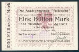 Deutschland, Germany, Stadtgemeinde Pullendorf - 1 Billionen Mark, 1923 ! - [ 3] 1918-1933: Weimarrepubliek
