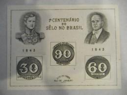 Y306 Brasilien Block 6 Souv Sheet, Wie Verausgabt OG, 100 Jahre Brasilianische Briefmarken, Brasilian Stamps - Blocs-feuillets