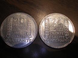 Vingt Francs Turin  (2 Piéces) - France