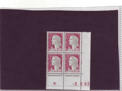 N° 1263 - 0,25F Marianne De DECARIS - BN De BM+BN - 2° Tirage Du 29.7.63 Au 17.9.63 - 6.09.1963 - - 1960-1969