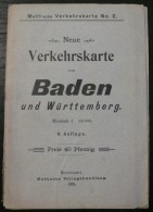 Neue Verkehrskarte Von Baden Und Wurttemberg - 1908 - Frais De Port 1.50 Euros - Littérature