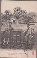 PHNOM-PENH-Princesse Et Prince Cambodgiens... (recto Timbre Décollé, Non Voyagé) - Cambodge