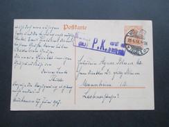 Deutsches Reich 1917 Ganzsache Mit Zensur. P.K. Geprüft Und Zu Befördern. Mülhausen Elsass - Briefe U. Dokumente