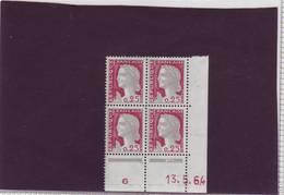 N° 1263 - 0,25F Marianne De DECARIS - CC De CC+CD - Tirage Du 4.2.64 Au 13.5.64 - Dernier Jour - - 1960-1969