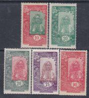 Côte Des Somalis  N° 122 / 24 + 131 + 133 X Types De 1915 / 16, Partie De Série :  Les 3 Vals Trace De  Char. Sinon TB - Französich-Somaliküste (1894-1967)