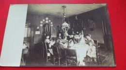 CARTE PHOTO INTERIEUR DE MAISON DINER VIE D AUTREFOIS - Cartes Postales