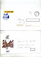 Lettre Franchise Cachet Luxeuil Illustré + Carte Art Dans Rue - Manual Postmarks