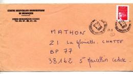 Lettre Cachet Voray Entete Hopital Besançon - Marcophilie (Lettres)