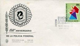 150° ANIVERSARIO DE LA POLICIA FEDERAL ARGENTINA SOBRE   ZTU - Police - Gendarmerie