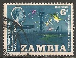 Timbres - Afrique - Zambie - 1965 -  6 D. - - Zambie (1965-...)