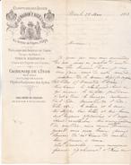 75 Paris 1883 - Lettre Illustrée Du Comptoir Des Indes 45 Avenue De L'Opéra. Belle Illustration Tb état. - France