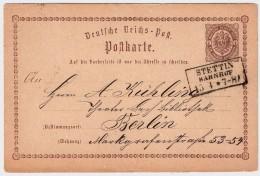 """( Ca. 1874) """" STETTIN - BAHNHOF """"  , #6624 - Deutschland"""