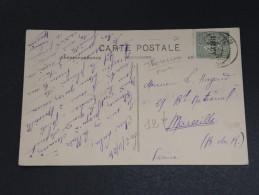 FRANCE / ALGÉRIE - Oblitération De Tlemcen Sur Carte Postale En 1924 , Type Semeuse Surchargée - A Voir - L 5348 - Algeria (1924-1962)