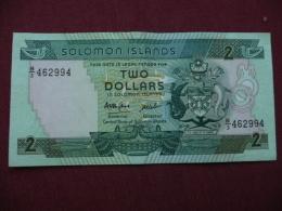 SOLOMON ISLANDS Billetde 2 Dollars Superbe état - Salomons