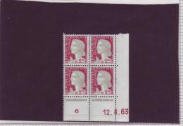 N° 1263 - 0,25F Marianne De DECARIS - BM De BM+BN,2° Tirage Du 29.7.63 Au 17.9.63 - 12.08.1963 - - 1960-1969