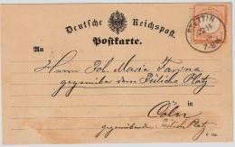"""1873  """" STETTIN """" Klar  , #6627 - Deutschland"""