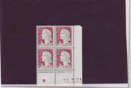 N° 1263 - 0,25F Marianne De DECARIS - BQ De BQ+BR -  1° Tirage Du 5.7 Au 14.8.63 - 19.07.1963 - - 1960-1969