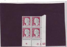 N° 1263 - 0,25F Marianne De DECARIS - BM De BM+BN - 1° Tirage Du 19.4.63 Au 27.6.63 - 2.05.1963 - - 1960-1969