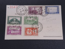 FRANCE / ALGÉRIE - Carte Du 1 Er Salon De Propagande Philatélique à Bône En 1938 , Pas Courant - A Voir - L 5357 - Storia Postale