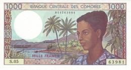 COMOROS P. 11b 1000 F 1994 UNC (s. 8) - Comoros