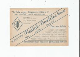 GIMONT (GERS) CARTE DE VISITE ANCIENNE DES ETS TESTUT (TEXTILES) - Visiting Cards