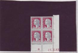 N° 1263 - 0,25F Marianne De DECARIS - BJ De BI+BJ - 1° Tirage/1° Partie Du 4.2 Au 18.4.63 - 27.03.1963 - 1960-1969