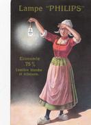 """CPA Publicitaire - Lampe """"PHILIPS"""" - Economie 75% Lumière Blanche Et éclatante - Publicité"""