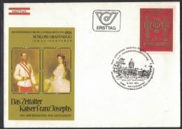 JP178    Austria,  Österreich FDC 1984 Haitzendorf - Zeitalter Kaiser Franz-Joseph, Schloss Grafenegg - FDC