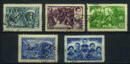 USSR 1943 Michel 860-864 Heroes Of The Soviet Union. Used - Usati