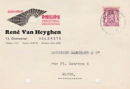 Selzate,Selzaete,publicité PHILIPS, René Van Heyghen - Zelzate