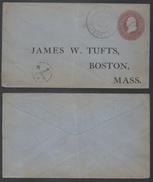 USA / 1886 ENTIER POSTAL PRIVE POUR BOSTON  (ref 7279)