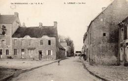 CPA  -  LESSAY  (50)    La Rue  -    Magasin Ou Café ?   Felix - Frankreich