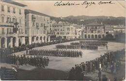 RPPC Chiavari Piazza Roma To Chile 1918 Censura Troops Soldati (2scans) - Autres Villes