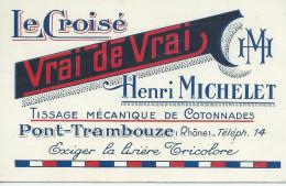 69 PONT TRAMBOUZE RHONE  CARTE DE VISITE - Cartes De Visite