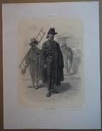 Strasbourg - Les Ramoneurs - Lithographie Originale En 2 Tons De E. Lemaitre, D'après Un Dessin D'Eugène Laville - Estampes & Gravures