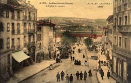LE PUY-EN-VELAY LE BOULEVARD CARNOT L'EGLISE SAINT-LAURENT  (CARTE GLACEE) - France