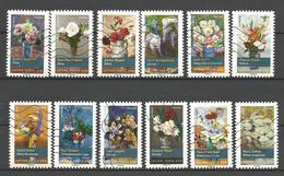 #  France / Adhesif / N° 1120 à 1131 Oblitéré / Bouquets De Fleurs / 2015 / Lot N° 109 Serie - France
