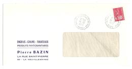 LETTRE LA NEUVILLE EN HEZ OISE 14/12/1973 PIERRE BAZIN PRODUITS PHYTOSANITAIRES - Y & T BÉQUET 1664 - 2 Scans - Marcophilie (Lettres)