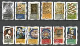 #  France / Adhesif / N° 1011 à 1022 Oblitéré / Art Renaissance En France / 2014 / Lot N° 123 Serie - Oblitérés