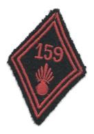 INSIGNE LOSANGE DE BRAS Du 159e R.I.A. Briançon  -Modèle 1945 -  CHASSEURS ALPINS - Grenade - Heer