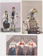 Bosna I Hercegovina - Nationaltrachten, Ethnographie (3 Postcards) 1919 - Bosnie-Herzegovine