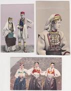 Bosna I Hercegovina - Nationaltrachten, Ethnographie (3 Postcards) 1919 - Bosnien-Herzegowina