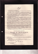 BRUXELLES LONDERZEEL Olivier Vicomte De SPOELBERCH 1885-1929 Professeur Université De Louvain Famille BAILLET-LATOUR - Avvisi Di Necrologio