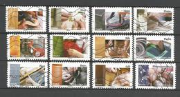 #  France / Adhesif / N° 1070 à 1081 Oblitéré / L'art Et La Matière / 2015 / Lot N° 090 Serie - Oblitérés
