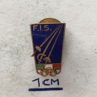 Badge (Pin) ZN004036 - Federazione Italiana Scherma (Italian Fencing Federation) FIS - Fencing